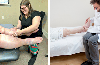 services leg massage